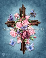 Butterfly Rose Cross
