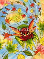 Autumn Winds Fairy Cat