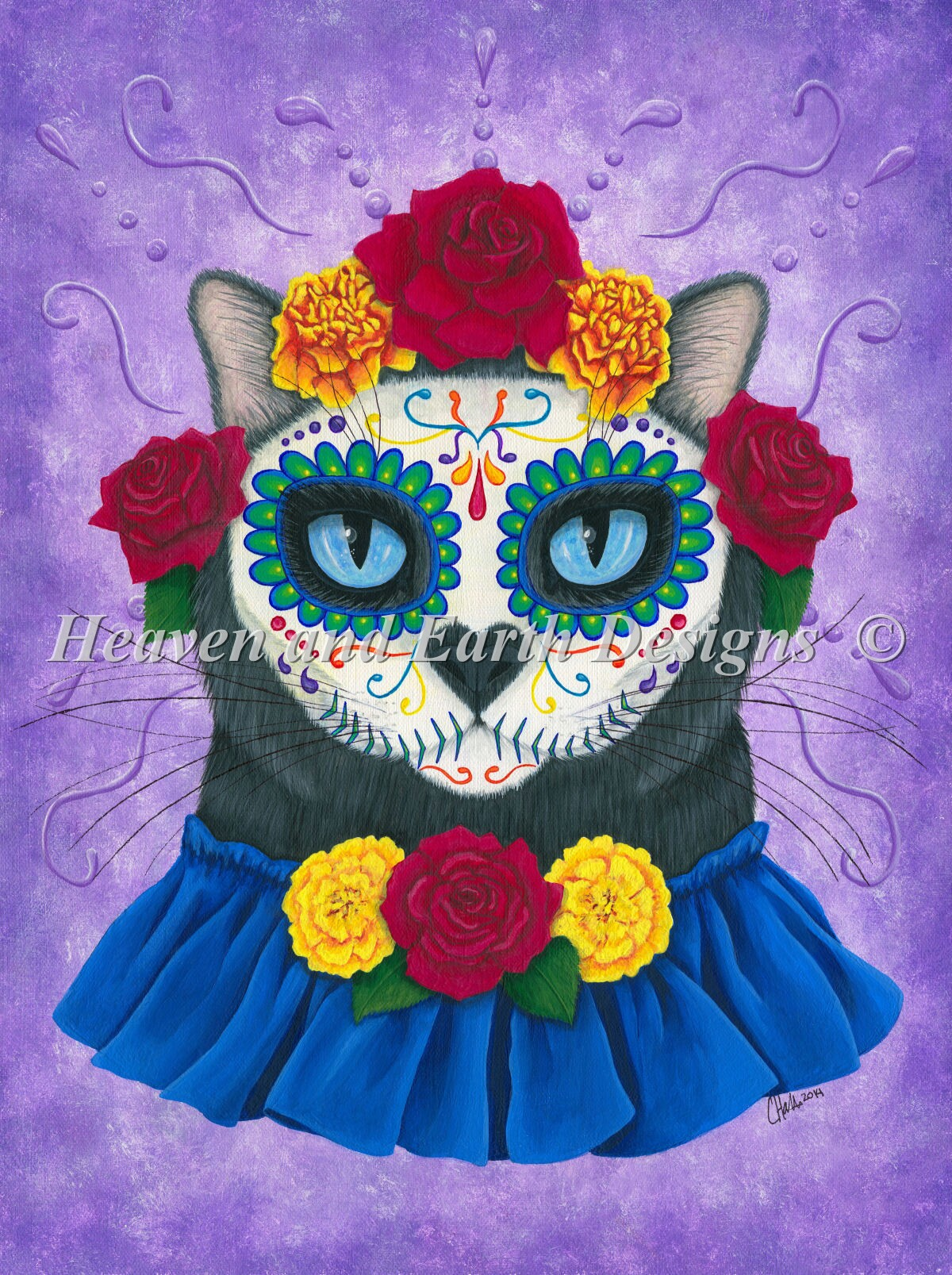 Day Of The Dead Cat Gal